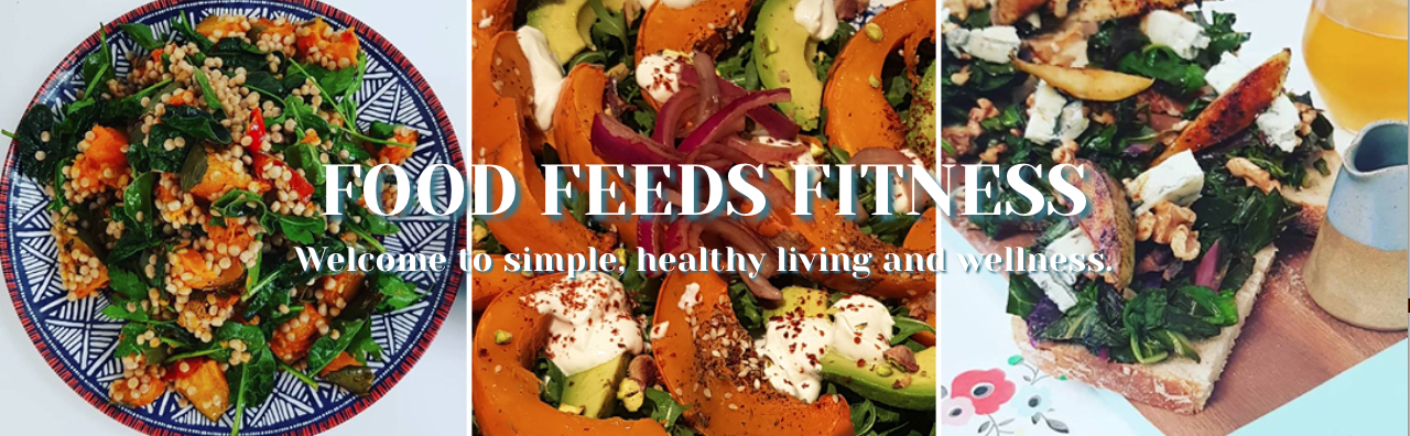 Food Feeds Fitness Banner and tagline image