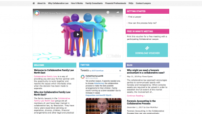 Collaborative Family Law North East Website