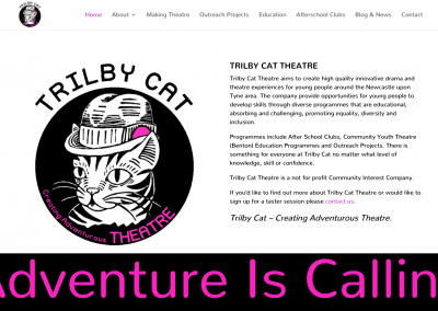 Trilby Cat Theatre Website